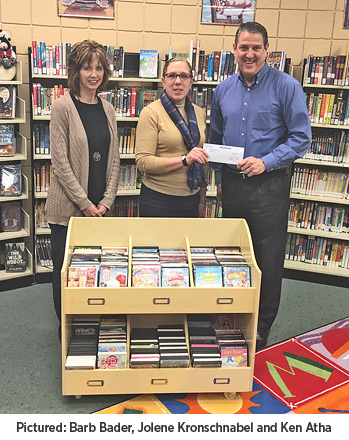 Aureon provides grant to Hawkins Memorial Library